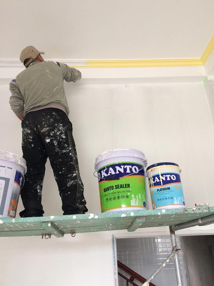 thi công sơn kanto